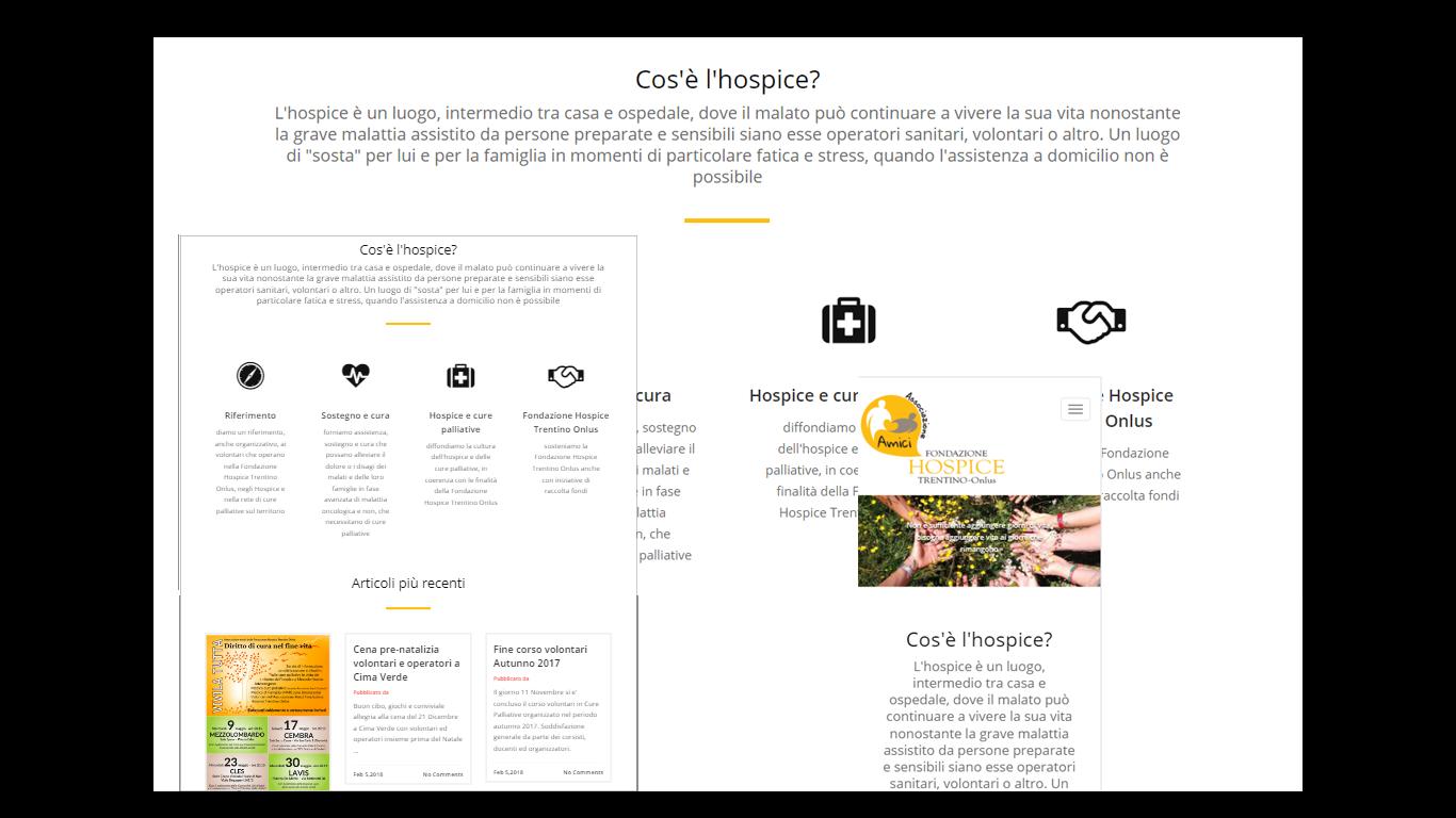 Sito web Fondazione Amici Hospice del Trentino