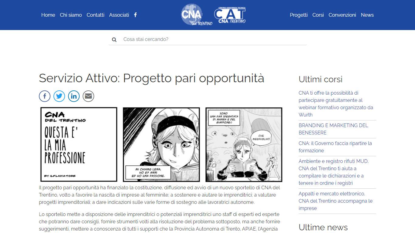 Articolo con una galleria di immagini