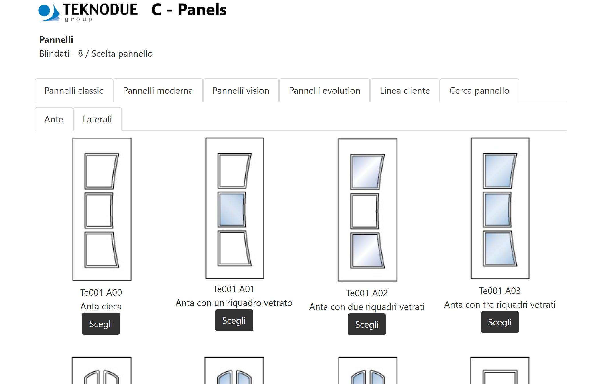 Il configuratore d'ordini che ho sviluppato per la Teknodue Group