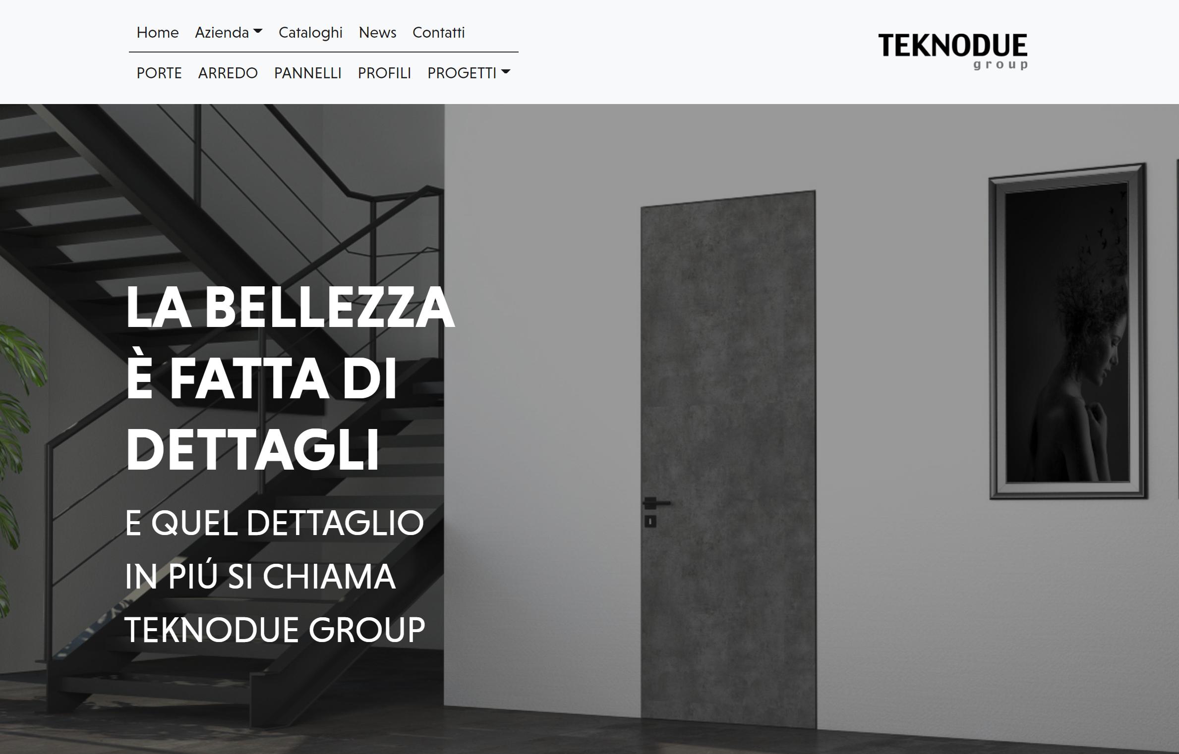 Il nuovo sito della Teknodue Group che ho realizzato
