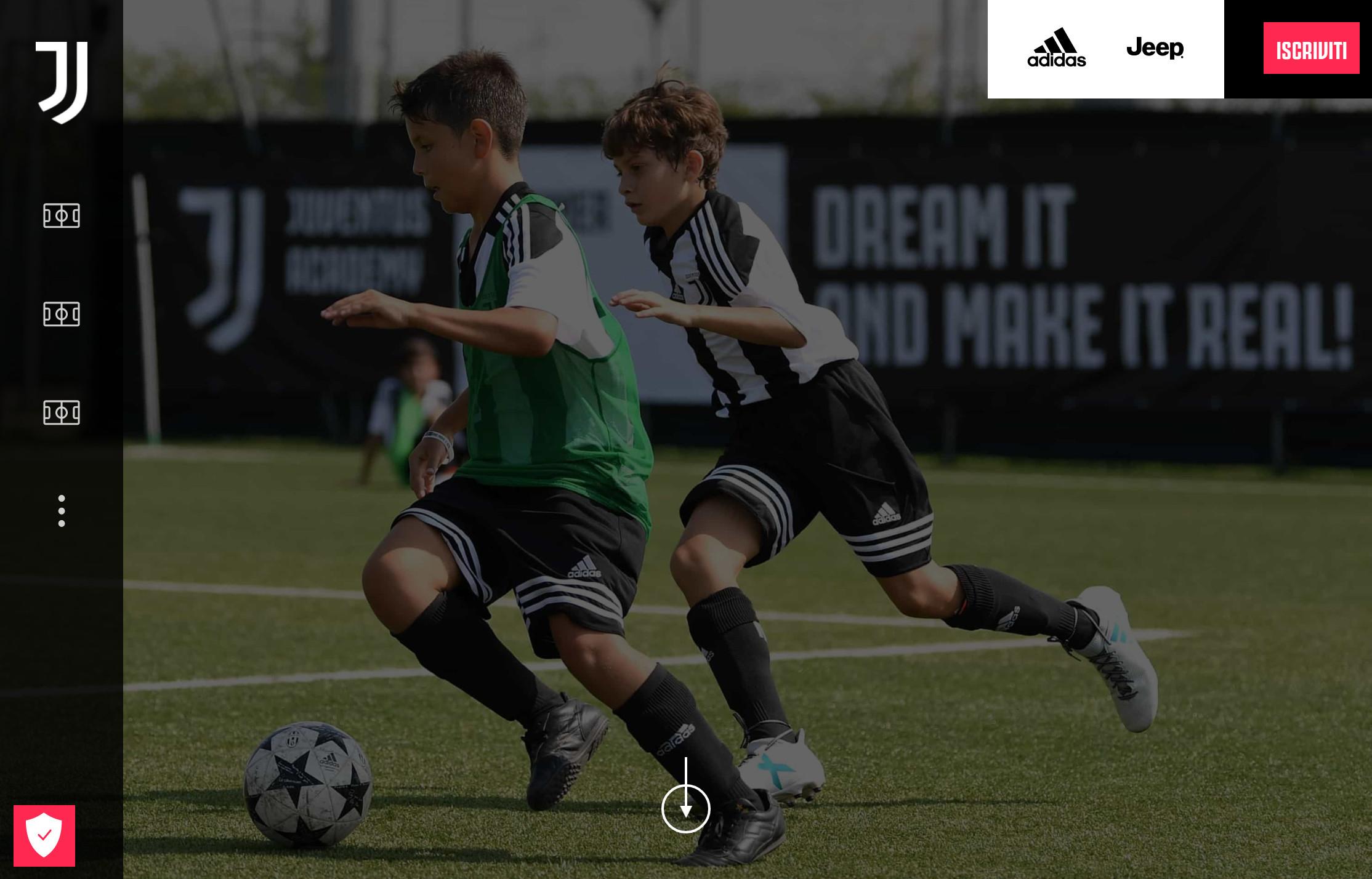 Il nuovo sito web dei camp estivi Juventus