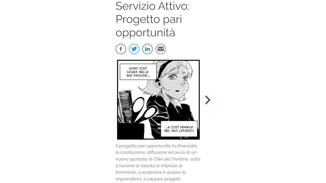 La visualizzazione su mobile di un articolo con la galleria immagini