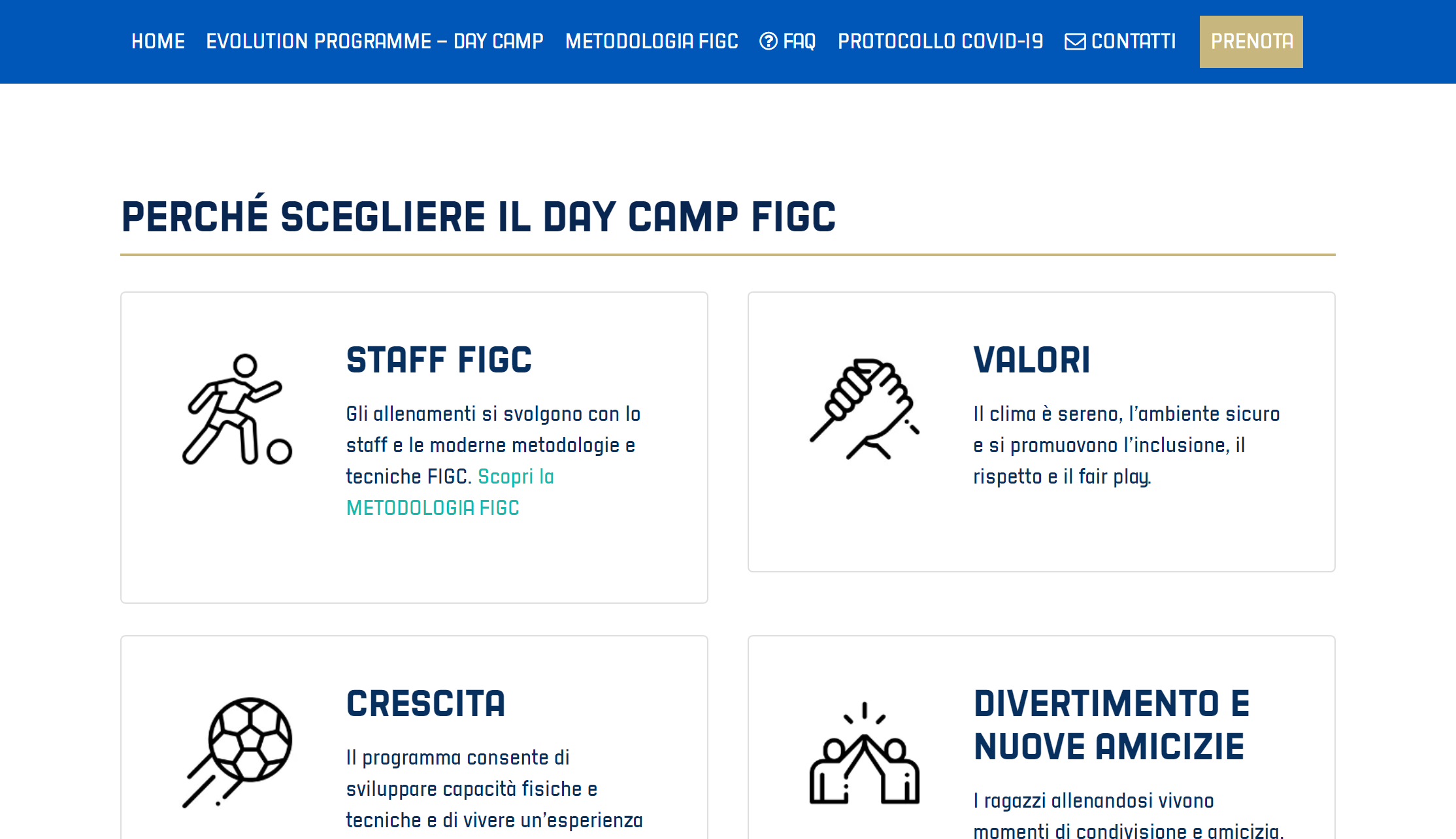 La presentazione dei valori dei Centri Estivi FIGC